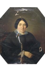 Portrait 19ème restauré