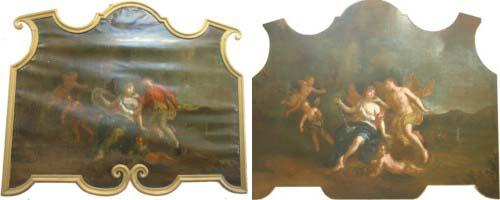 Couples et Amours (1,16 X1,41 m) Hennebont (56) Repeints de pudeur retirés